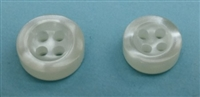 Polyester Shirt Buttons - 3.7mm Thickness K670N Off-White - 4 Holes