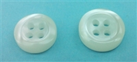 Polyester Shirt Buttons - 3mm Thickness K670N Off-White - 4 Holes