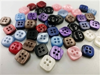 color square shape shirt buttons