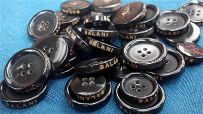 Logo-engraved Buffalo Horn Buttons