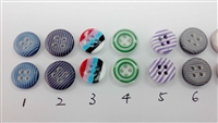 Multi-Colors Polyester Shirt Buttons