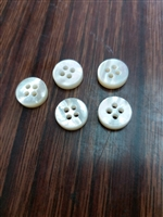 Flat Top and Bottom 3mm Mother of Pearl Buttons