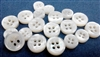 3mm Thickness Bevel Shape Mother of Pearl (MOP) Buttons, 4-Hole, White