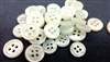 2mm Thickness Mother of Pearl (MOP) Buttons, 4-Hole, White