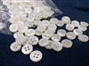 2.5mm Thickness Mother of Pearl (MOP) Buttons, 4-Hole, White
