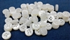 4mm Thickness Mother of Pearl (MOP) Buttons, 4-Hole, White