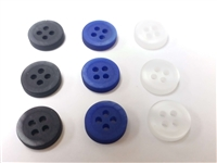 2 Tones Effect Matt Finish Polyester Buttons