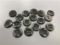 Smoke Strip Pattern Shirt Buttons
