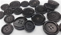 Black Horn Buttons for Suits