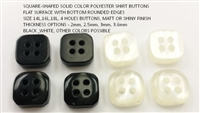 Square-Shaped Solid Color Shirt Buttons