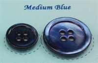 Medium Blue Pearl Suit Buttons