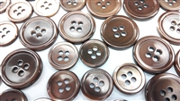 Dyed Brown Trocas Shell Buttons - 32L