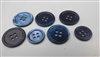 Dyed Blue Trocas Shell Buttons - 24L