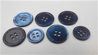 Dyed Blue Trocas Shell Buttons - 32L