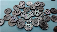 Logo Engraved Smoke Mother of Pearl Buttons