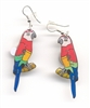 Flashing Parrot Earrings