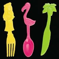 Plastic Tropical Flatware