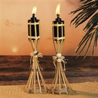 Table Top Tiki Torches<BR>Pair of Two