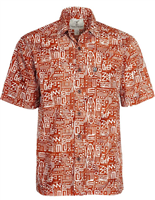 "Men's Batik Button Front Shirt ""Longboard"""