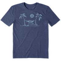 Life is Good Octopus Hammock Cool Tee