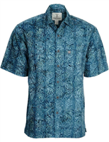 "Men's Batik Button Front Shirt ""Riptide"""