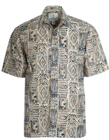 "Men's Batik Button Front Shirt ""Shortboard"""