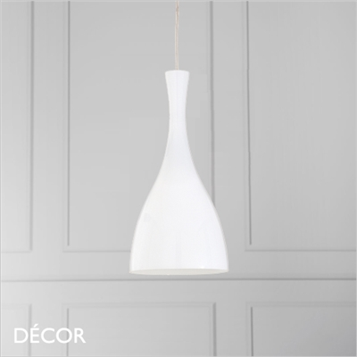 OLIMPIA PENDANT LIGHT, WHITE