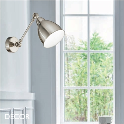 NEWTON WALL LIGHT, NICKEL