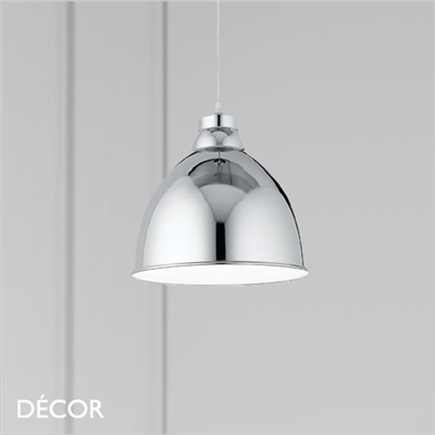 NAVY PENDANT LIGHT, CHROME