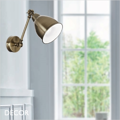 NEWTON WALL LIGHT, BRASS