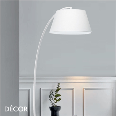 PAGODA ARCHED FLOOR LAMP, WHITE