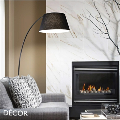 PAGODA ARCHED FLOOR LAMP, BLACK
