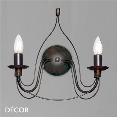 CORTE CHANDELIER WALL LIGHT, ANTIQUE WHITE