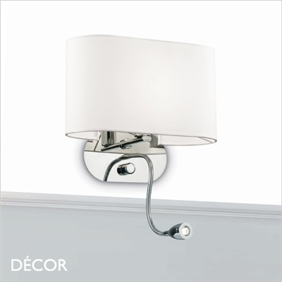 SHERATON WALL LIGHT, WHITE