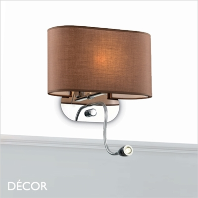 SHERATON WALL LIGHT, BROWN