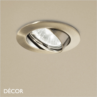 SWING DIRECTIONAL RECESSED DOWNLIGHT, BRASS