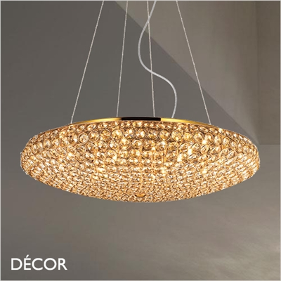 KING PENDANT LIGHT, GOLD