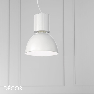 HANGAR PENDANT LIGHT, WHITE