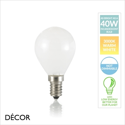 E14 4W LED WHITE GOLF BALL BULB