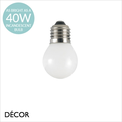 E27 4W LED WHITE GOLF BALL BULB