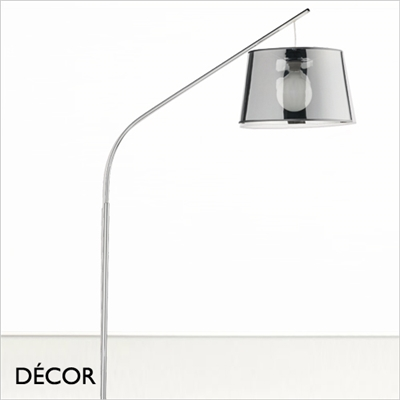 DADDY ARCHED SUSPENSION FLOOR LAMP, CHROME