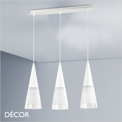CONO MULTIPLE PENDANT LIGHT, WHITE