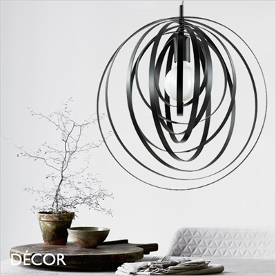 DISCO PENDANT LIGHT, BLACK