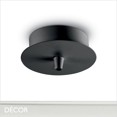 CEILING ROSE, BLACK