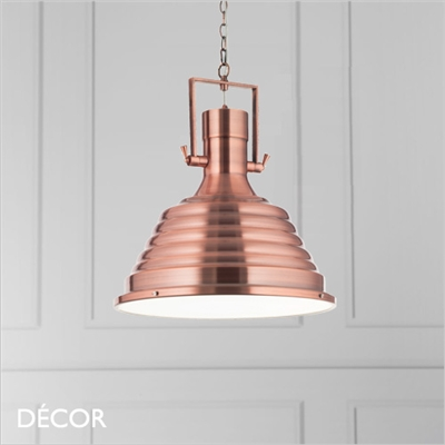 FISHERMAN PENDANT LIGHT, COPPER