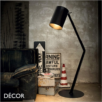 BIN FLOOR LAMP, BLACK