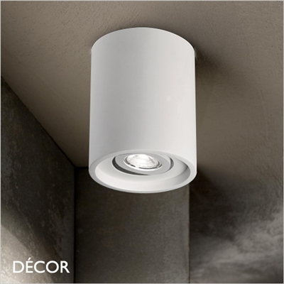 OAK, WHITE, ROUND ADJUSTABLE RECESSED DOWNLIGHT
