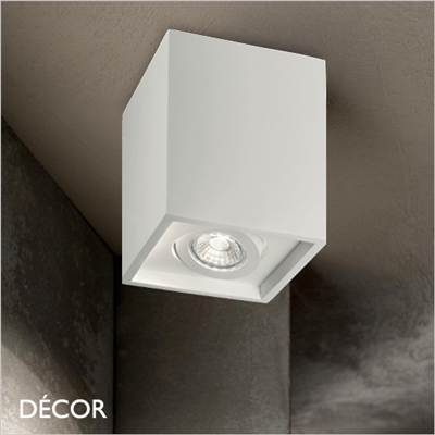 OAK, WHITE, SQUARE, ADJUSTABLE RECESSED DOWNLIGHT