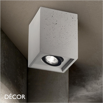 OAK, CEMENT, SQUARE, ADJUSTABLE RECESSED DOWNLIGHT