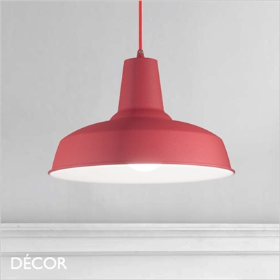 MOBY PENDANT LIGHT, SOFT RED